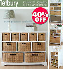 Large White Storage Unit, Wicker Drawers, Hallway, Kitchen, Bathroom storage