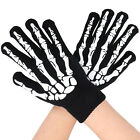 Adult Soft Skeleton Bones hands Men's Women's Skull Hand Reaper Gloves Black