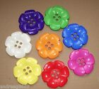 LARGE DAISY FLOWER BUTTONS SIZE 100 -  62MM ASSORTED COLOURS TO CHOOSE FROM