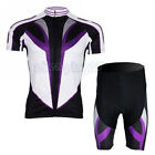 Speed Purple Cycling Bike Short Sleeve Clothing Bicycle Jersey + Shorts Set