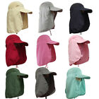 Camping Hiking Fishing Outdoor Big Wide Brim Face Neck Cover Flap Sun Hat Cap