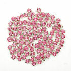 200pcs 4mm Glass Crystal Metal Base Cloth Shoes Embellishments Findings