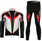 Speed Fleece Thermal Winter Cycling Bike Long Sleeve Jersey Bicycle Pants Sets