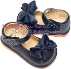 Girls Squeaky Shoes Black NEW Unique ADD-A-BOW Design U-Choose Bow or Wear Plain