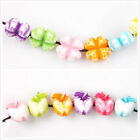 100/500pcs New Coloried Clover/Apple Beautiful Acrylic Beads Fit Bracelet Making