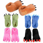 Unisex Indoor Winter Warm Soft Plush Home Slippers Cartoon Cosplay Paw Shoes