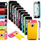 New Heavy Duty Hybrid Rugged Hard Case Cover For Apple iPhone 5C C+ Stylus+ Film