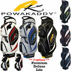 POWAKADDY GOLF BAG TROLLEY BAG PREMIUM CART BAG NEW 2015 BLACK GREY ** SALE! **