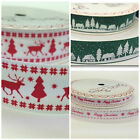 3 METRES  CHRISTMAS RIBBONS FESTIVE  DESIGNS  9 MM & 16 MM  FREEPOST UK
