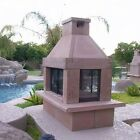 Designer Outdoor Fireplace 3 Screens - WOOD BURNING - NATURAL GAS or PROPANE GAS