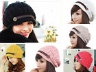 new 6 Colors Unisex Winter Plicate Baggy Beanie Women's Knitted Ski Hat Cap