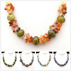 XM362 Multicolored Stone Crystal Agate Acrylic Fashionable Necklace