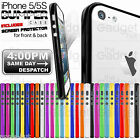 BUMPER RIM CASE SILICONE COVER FOR APPLE IPHONE 5/5S FREE SCREEN PROTECTOR