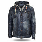 URBAN CLASSICS HOODED DENIM LOOK JACKET JACKE JEANS KAPUZE WINTERJACKE S-XXL