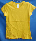 NEW BASIC 100% COTTON BRIGHT YELLOW Cap Sleeve Solid Tee Shirt GIRL SIZES NWOT