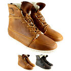 WOMENS HUB SONG HIGH TOP FUR LINED LACE UP ROUND ANKLE BOOT TRAINER UK SIZES 3-8