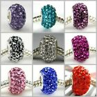 Swarovski S-Color Crystal 925 Sterling Silver fit European Bead Charm Bracelet