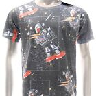 m306 Minute Mirth Sz M L T-shirt Vtg Metal Rock Classic Skull Space Star War Men