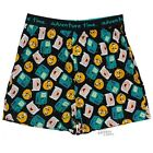 Adventure Time Beemo Jack And Finn Faces Licensed Adult Boxer Breifs S-XXL