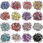 2000pcs Nail Art Acrylic Rhinestone Half Round Flat Bottomed Beads DIY Craft