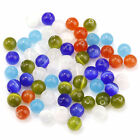 Wholesale 50/200Pcs Round Glass Cat's Eye Loose Bead Spacer Beads 4/6/8/10mm