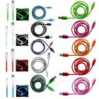 BRAiDED AND LED MiCRO USB CHARGER DATA CABLE LEAD for LG GW880 and Various