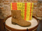 Bare Traps Tansy Auburn Buckle Ankle Boots NEW