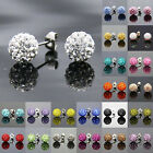Fashion Women Charm lady Earrings Elegant Crystal Rhinestone Ear Stud Earrings