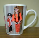 Personalised Ceramic Latte Mugs Inc 2 Images and Message.  Available in 2 sizes
