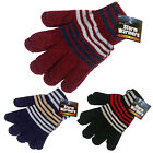WINTER WARM THERMAL INSULATED CHENILLE STRIPED KNITTED INSULATED UNISEX GLOVES