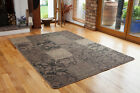 Vintage Style Natural Beige Hallway Runners Long Non Slip Sisal Style Floral Mat
