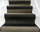 Long Beige Black Cut to Measure Sold Per MetreQuality Stair Carpet Rugs CHEAP UK