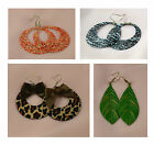 ORANGE, BLACK, WHITE GREEN EARRINGS IN VARIOUS STYLES