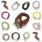 Wholesale 10/100pcs Man-made Leather Braid Rope Hemp Necklace 3mm For Craft