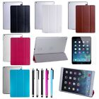 Ultra Slim Magnetic Leather Clear Back  Stand Case Cover For Apple iPad Air 5th
