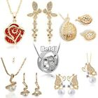 Wedding Party Fashion Jewelry Set Lady Bride Women's Necklace Earrings Lot BF00