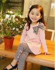P112 Christmas Party Pink T-shirt Girls Dresses + Legging Pant SIZE 2-3-4-5-6-7Y