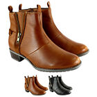 Womens Hush Puppies Chamber Low Heel Zip Elasticated Ankle Boot US Sizes 5-10