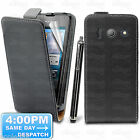 REAL GENUINE LEATHER FLIP CASE POUCH COVER FOR NEW HUAWEI ASCEND Y300