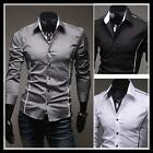 Mens Luxury Casual Formal Slim-Fit Stylish Long Sleeve Dress Business Shirt Tops