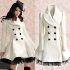Princess Womens Lolita Cute Gothic Coat long Lace White Jacket Parka Windbreaker