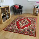 Traditional Red Cream Floral Rugs Carpet Mats Small Large Soft Living Room Mats