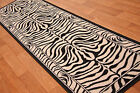 Shiraz Modern Black Ivory Zebra Print Long Hall Runner Rug Animal Safari Mats