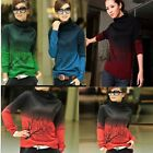 Women Fall Winter Twig Print Turtleneck Cashmere Bottoming Shirt Knitwear 5Sizes