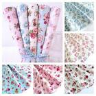 HEAVENLY HEARTS - CLASSIC FLORAL100% COTTON FABRIC pink blue red cream ivory