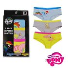 MLP Rainbow Dash Best Pony Fluttershy Yay 3 Pack Hipster Panty Licensed S-XL
