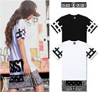 weilin Unisex Cashews Tattoos Hip Hop Side Zip Up Extra Long T Shirts Y0356