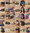 PACK OF WHOLESALE : BULK MASQUERADE / PARTY MASKS : CHOOSE PACK SIZE :