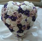 Wedding Flowers Bride Diamante Rose Heart Bouquet Posy Posie Teardrop Shower