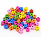 10mm Mixed Colour Mixed Number Cube Wooden Beads Craft Beading Jewellery -  ML